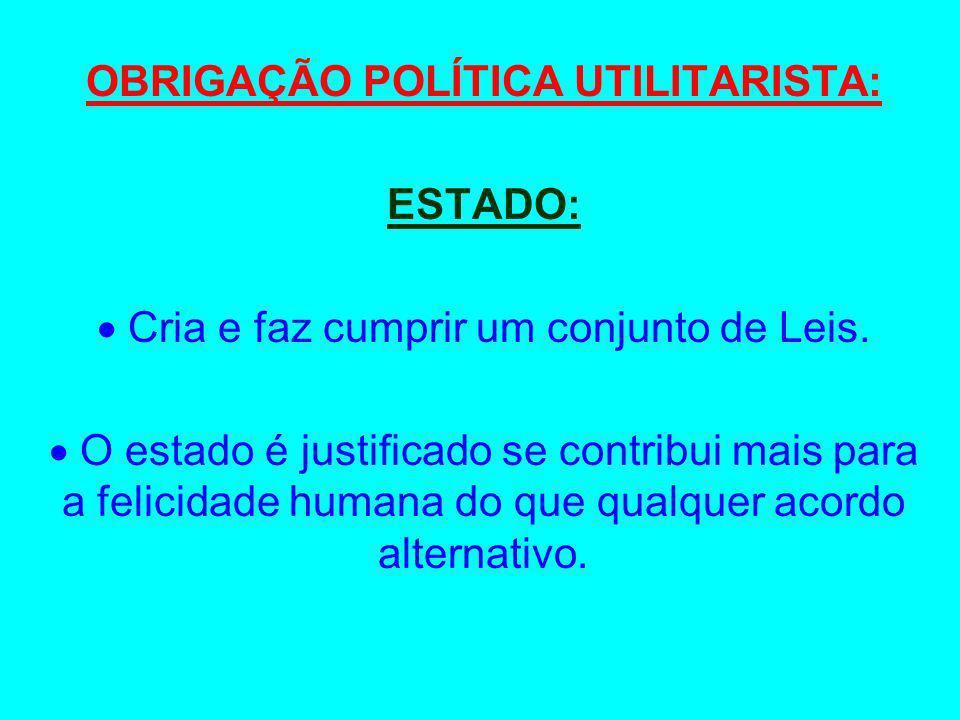 OBRIGAÇÃO POLÍTICA UTILITARISTA: