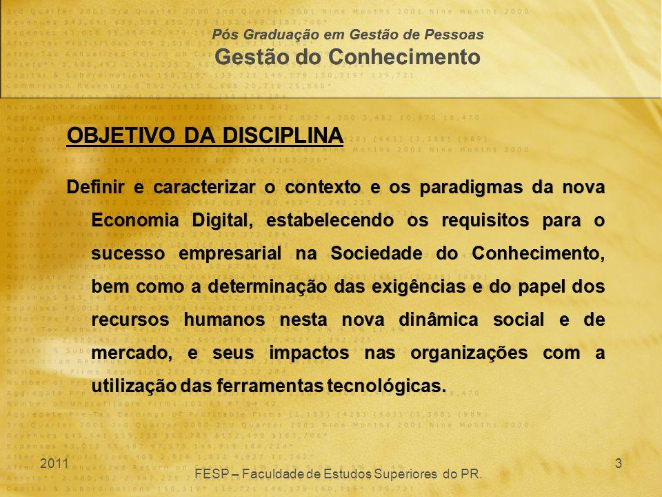 Pós Graduação em Gestão de Pessoas Gestão do Conhecimento