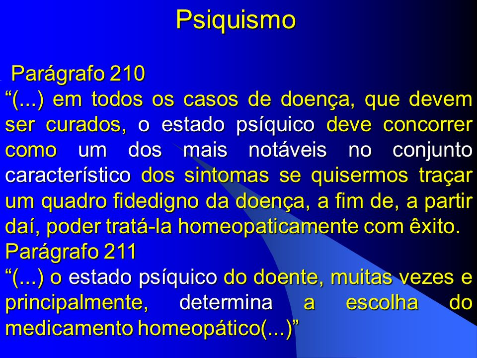 Psiquismo Parágrafo 210.