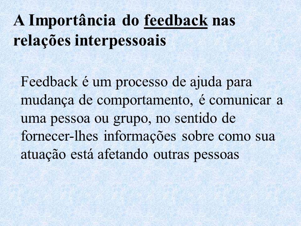 A Importância do feedback nas relações interpessoais