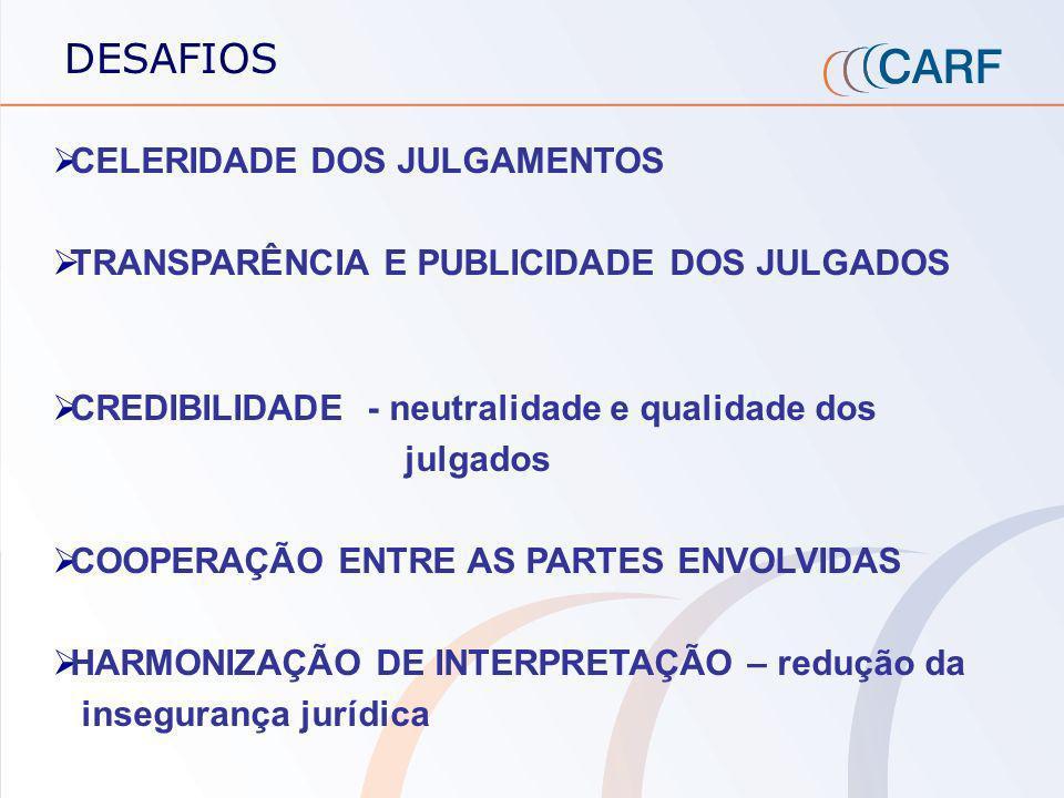 DESAFIOS CELERIDADE DOS JULGAMENTOS