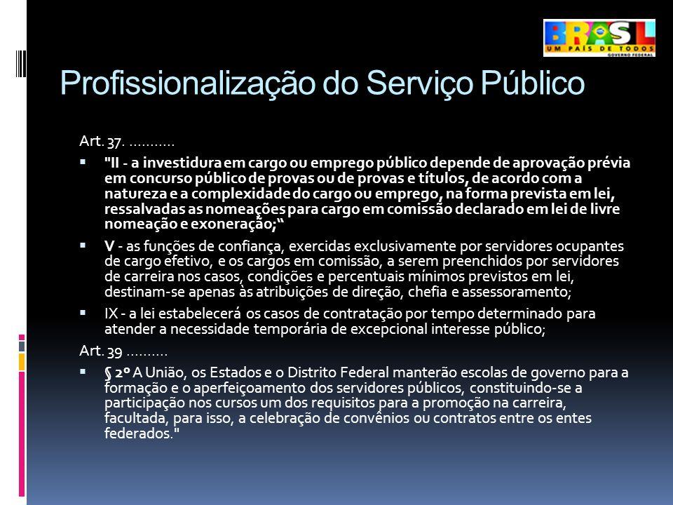 Profissionalização do Serviço Público