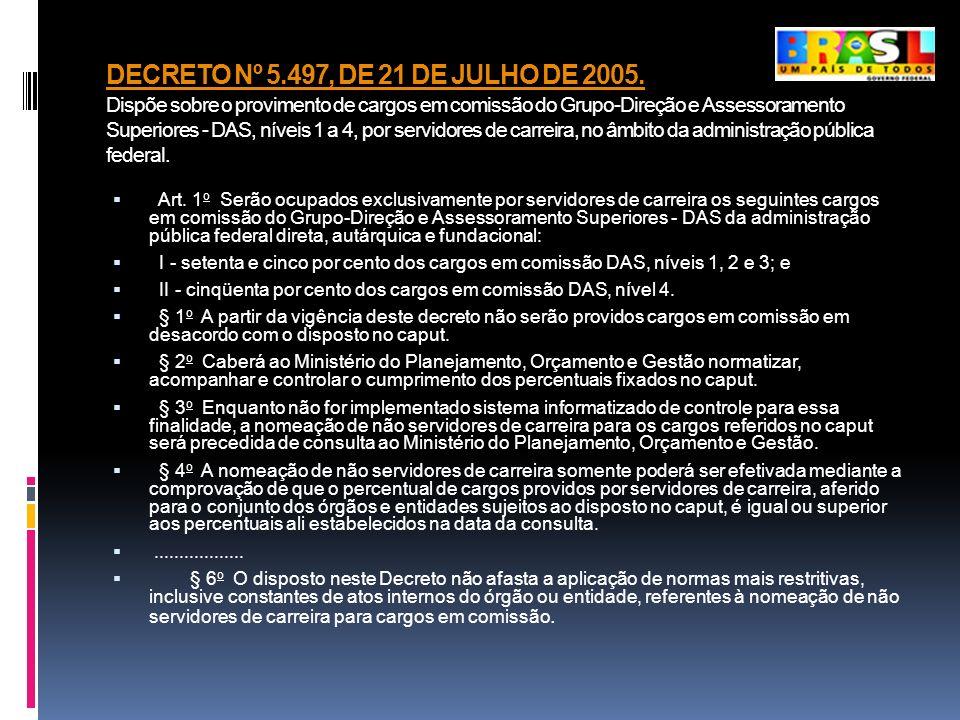 DECRETO Nº 5. 497, DE 21 DE JULHO DE 2005