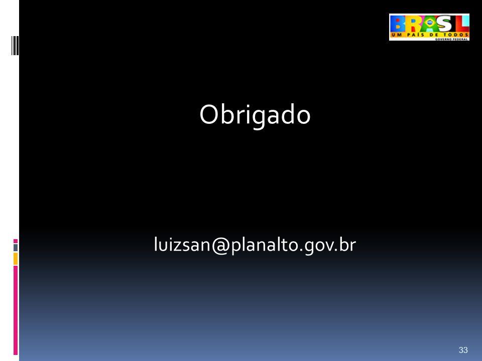 Obrigado luizsan@planalto.gov.br