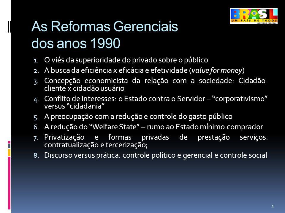 As Reformas Gerenciais dos anos 1990