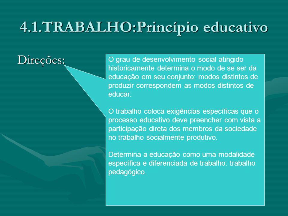 4.1.TRABALHO:Princípio educativo