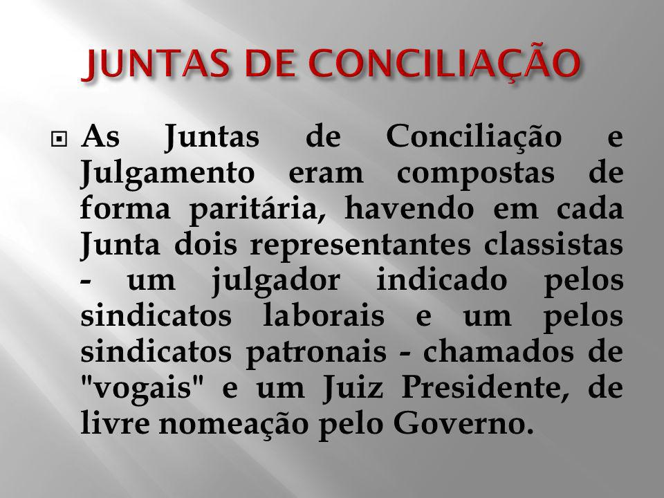 JUNTAS DE CONCILIAÇÃO