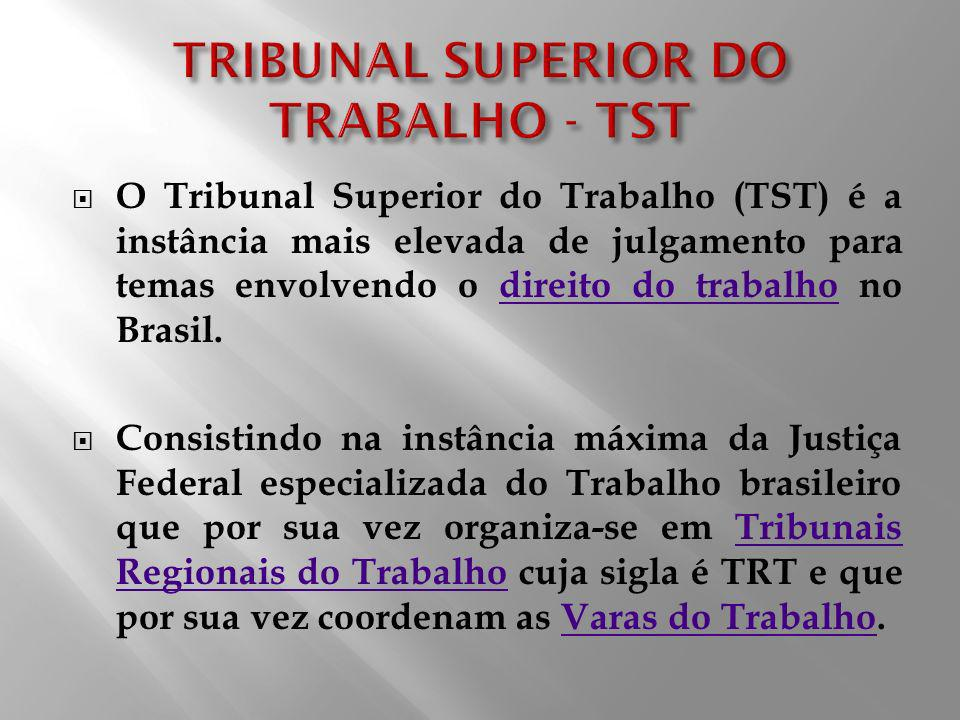 TRIBUNAL SUPERIOR DO TRABALHO - TST