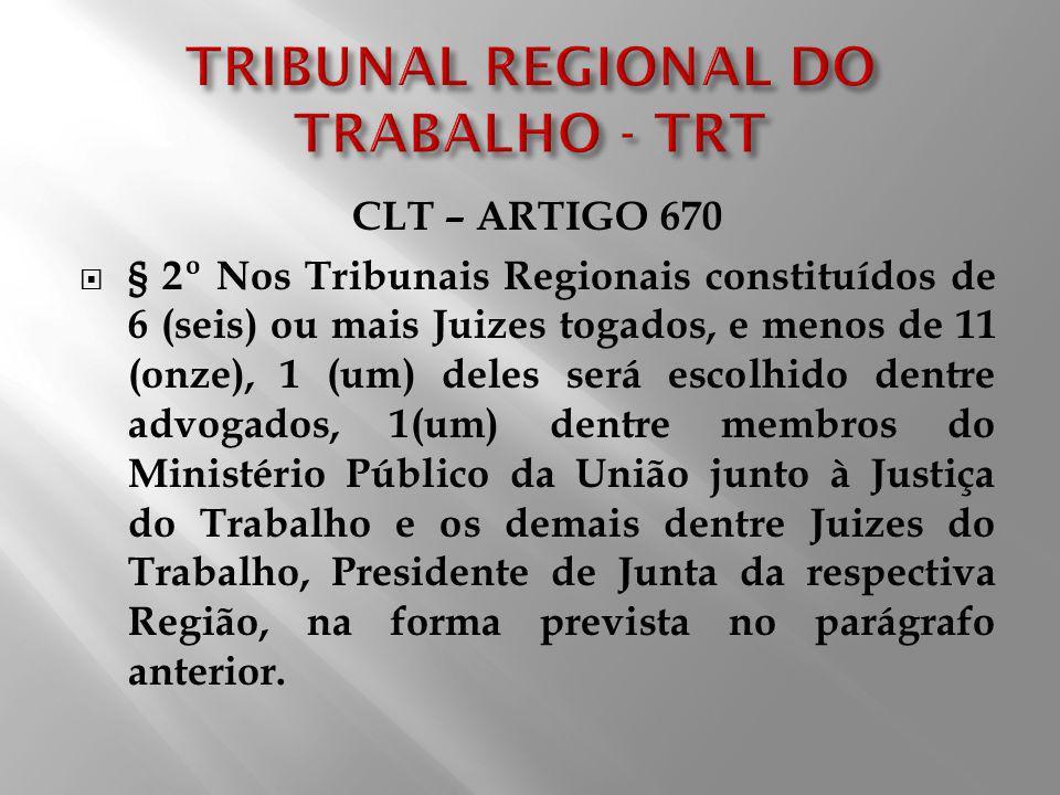 TRIBUNAL REGIONAL DO TRABALHO - TRT