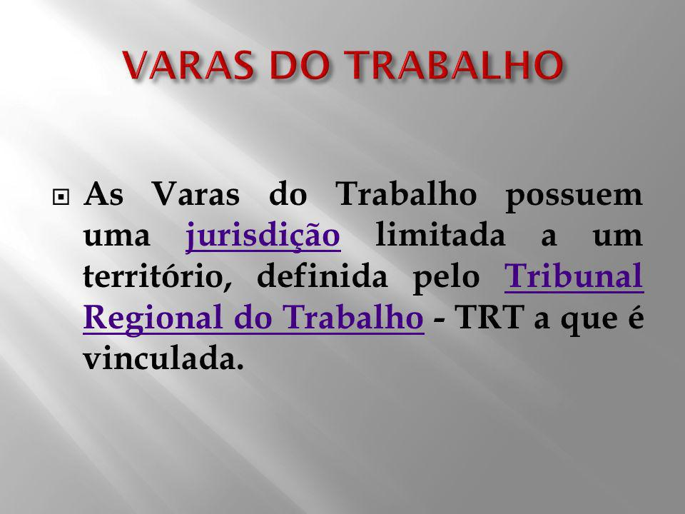 VARAS DO TRABALHO