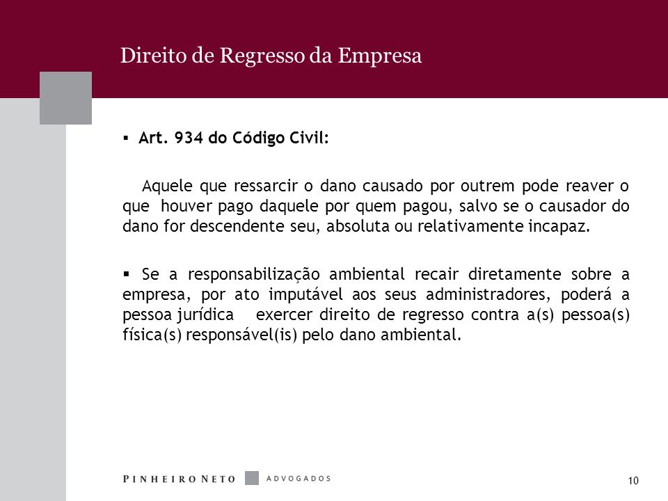 Direito de Regresso da Empresa