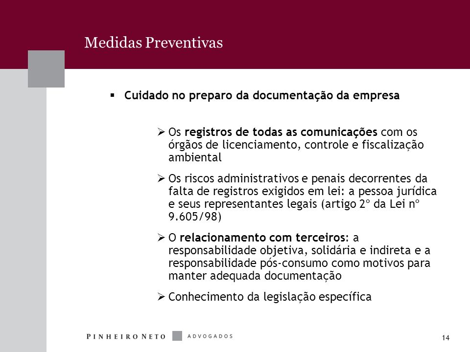 Medidas Preventivas Cuidado no preparo da documentação da empresa