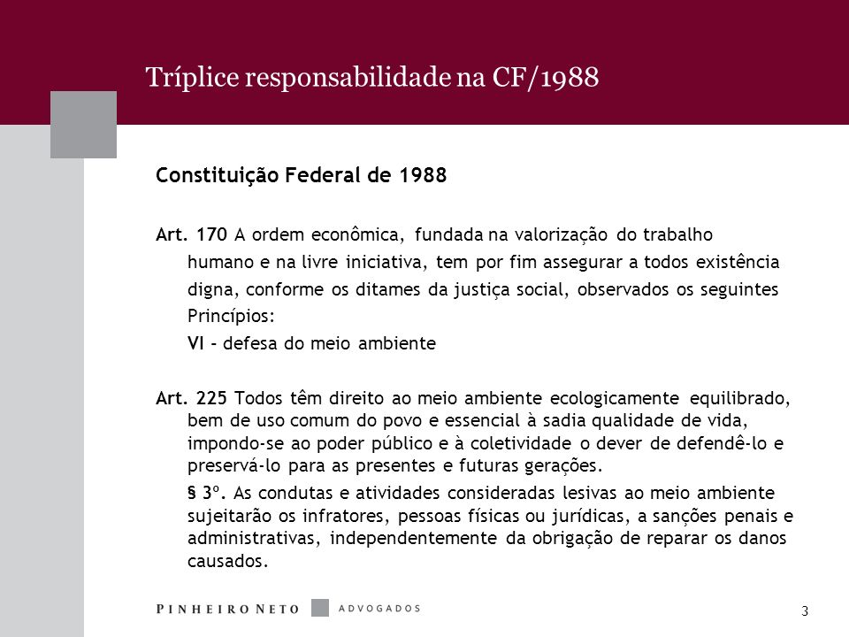 Tríplice responsabilidade na CF/1988