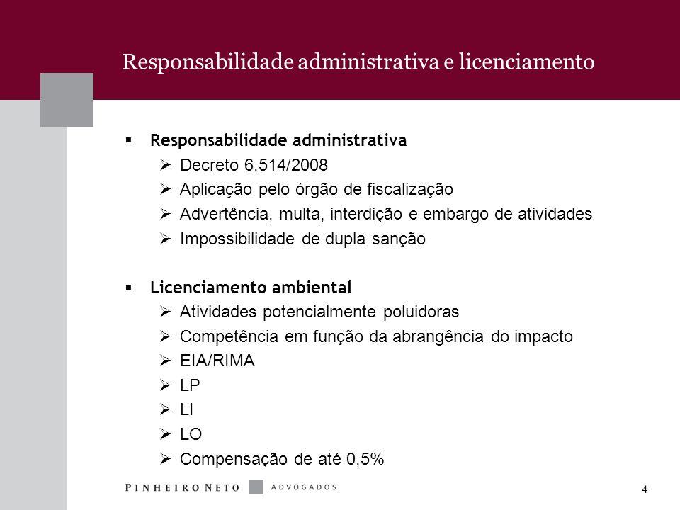 Responsabilidade administrativa e licenciamento