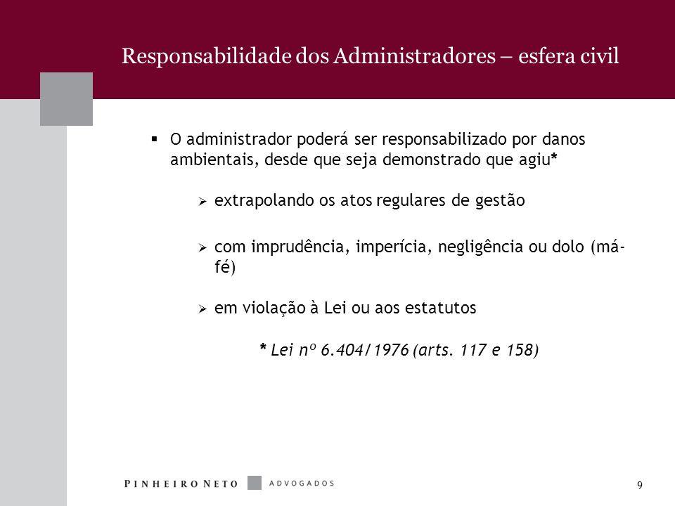 Responsabilidade dos Administradores – esfera civil