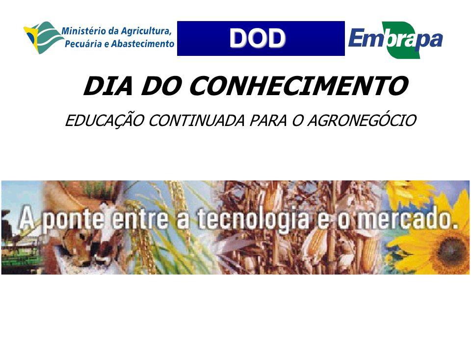 DOD DIA DO CONHECIMENTO EDUCAÇÃO CONTINUADA PARA O AGRONEGÓCIO