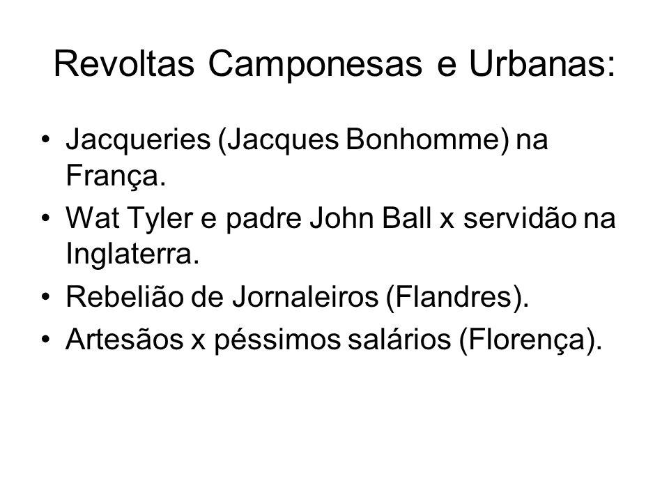 Revoltas Camponesas e Urbanas: