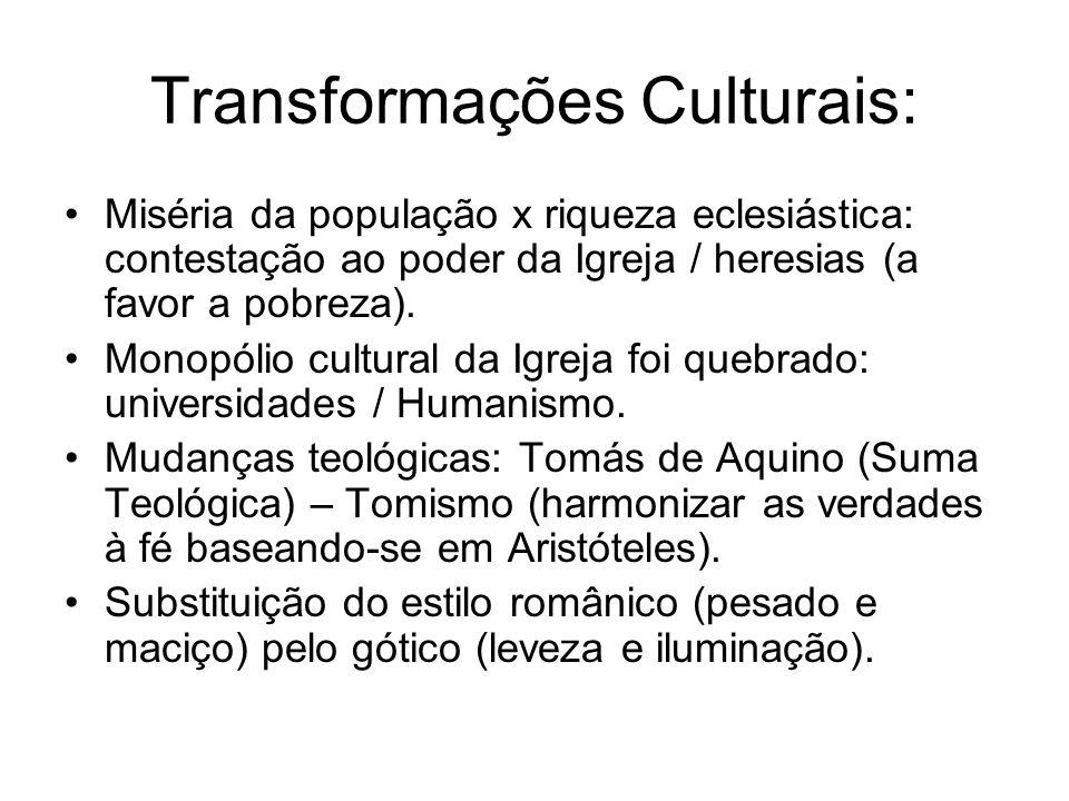 Transformações Culturais: