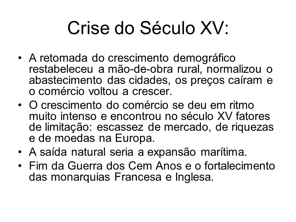 Crise do Século XV: