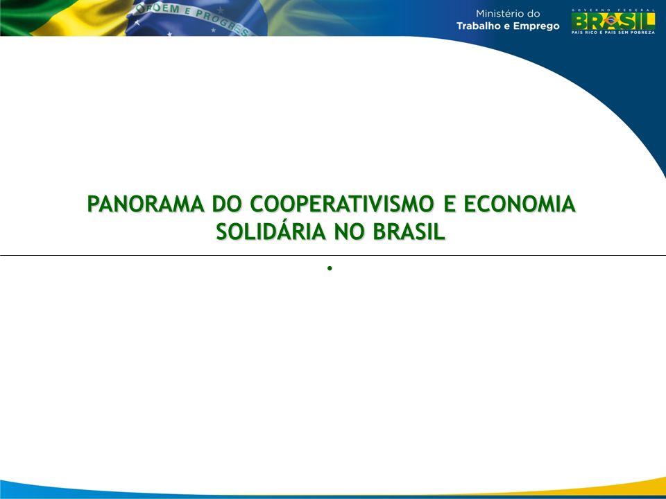 PANORAMA DO COOPERATIVISMO E ECONOMIA SOLIDÁRIA NO BRASIL