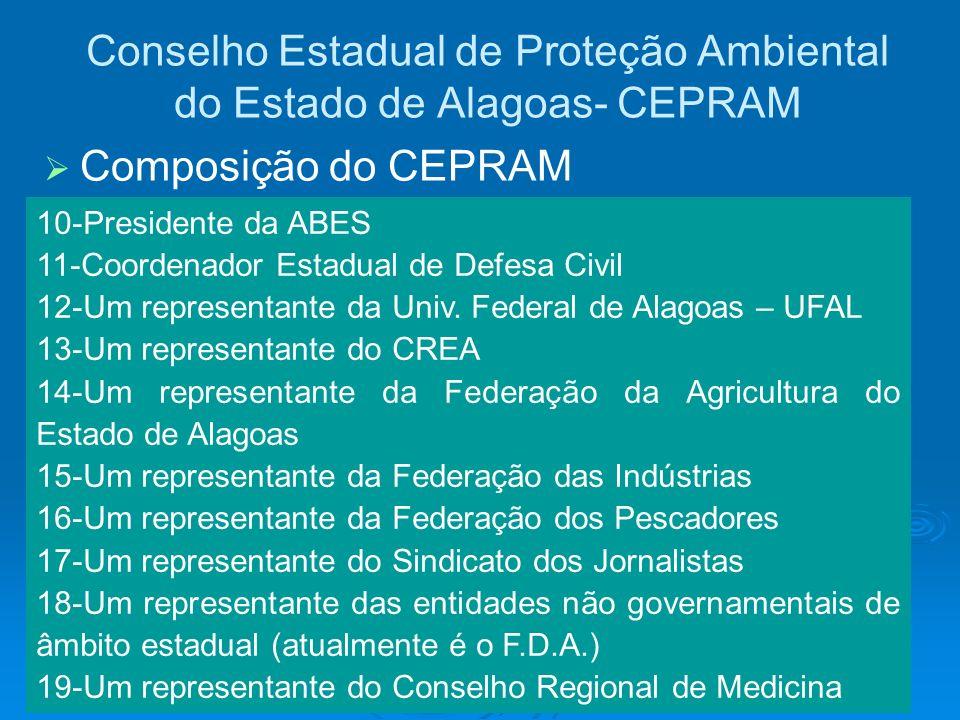 Conselho Estadual de Proteção Ambiental do Estado de Alagoas- CEPRAM