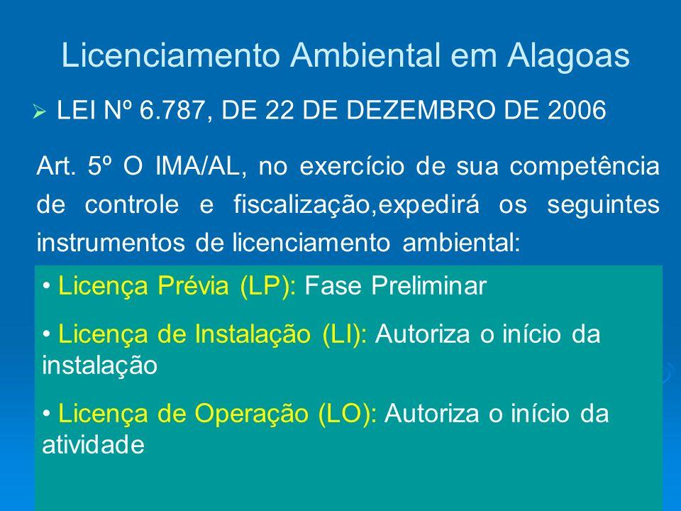 Licenciamento Ambiental em Alagoas