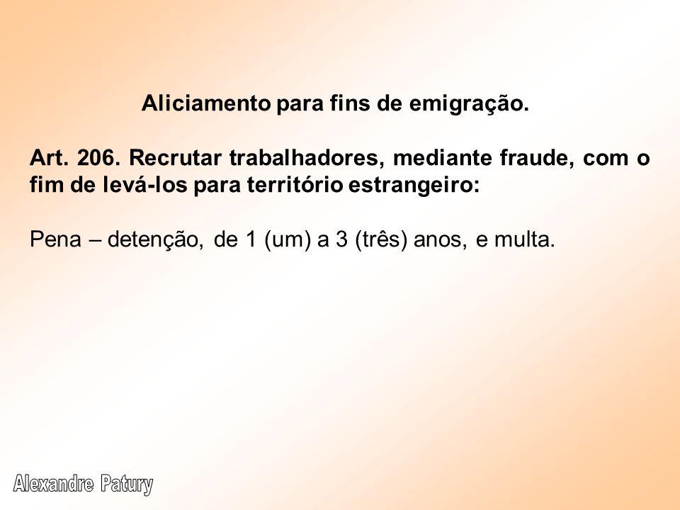 Aliciamento para fins de emigração.