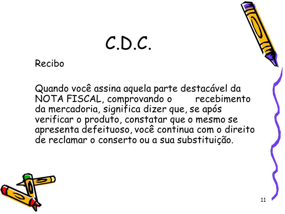 C.D.C. Recibo.