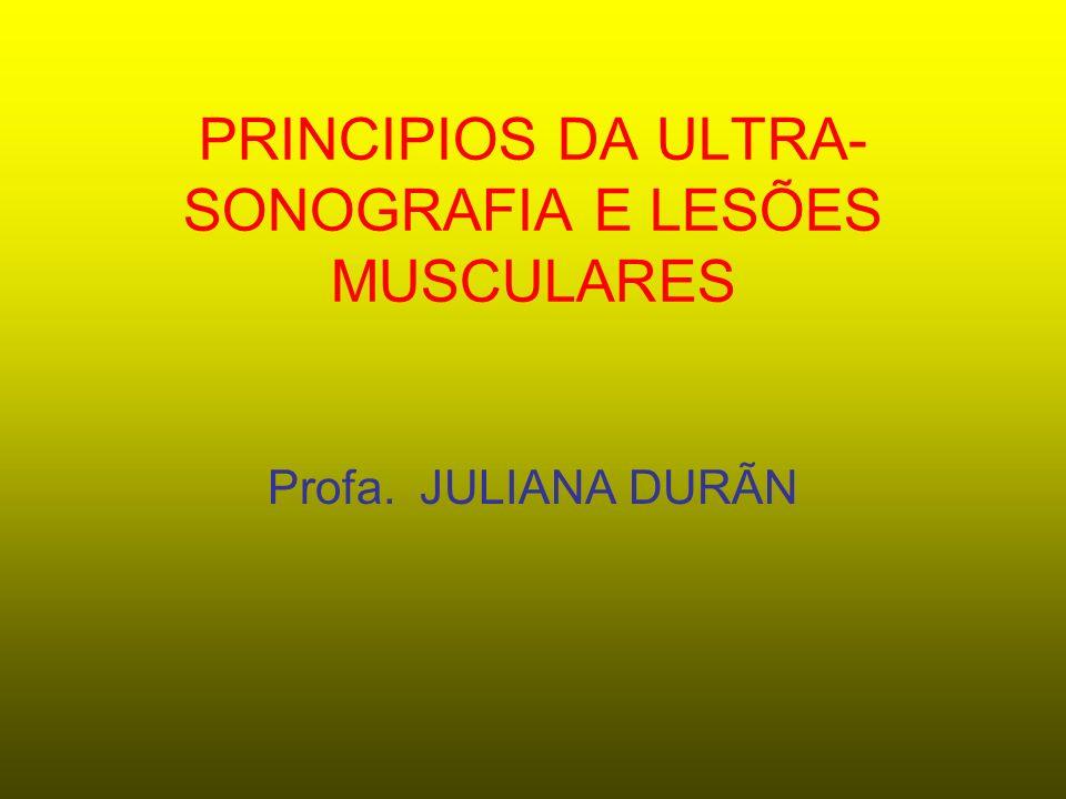 PRINCIPIOS DA ULTRA-SONOGRAFIA E LESÕES MUSCULARES
