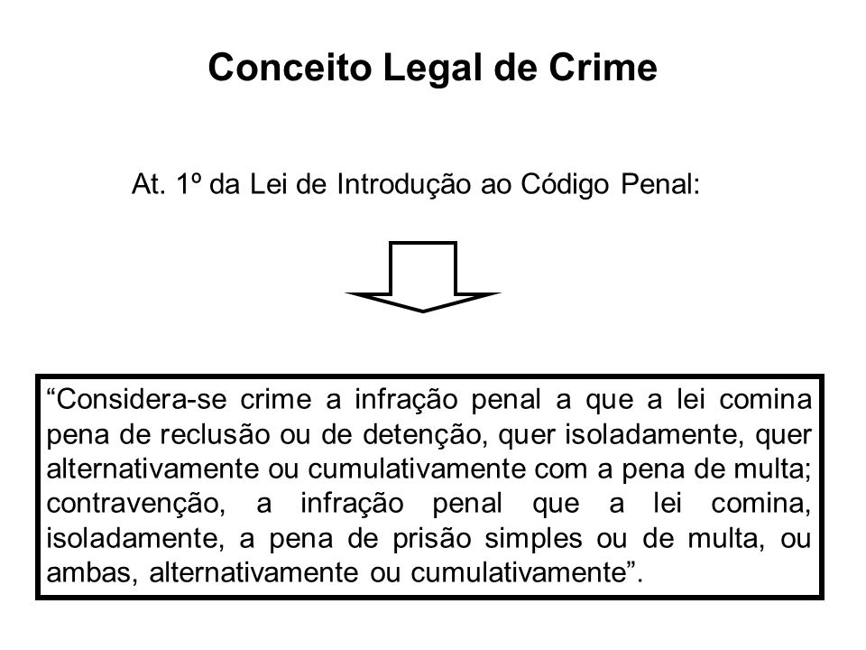 Conceito Legal de Crime