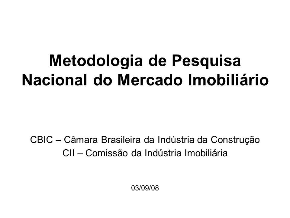 Metodologia de Pesquisa Nacional do Mercado Imobiliário