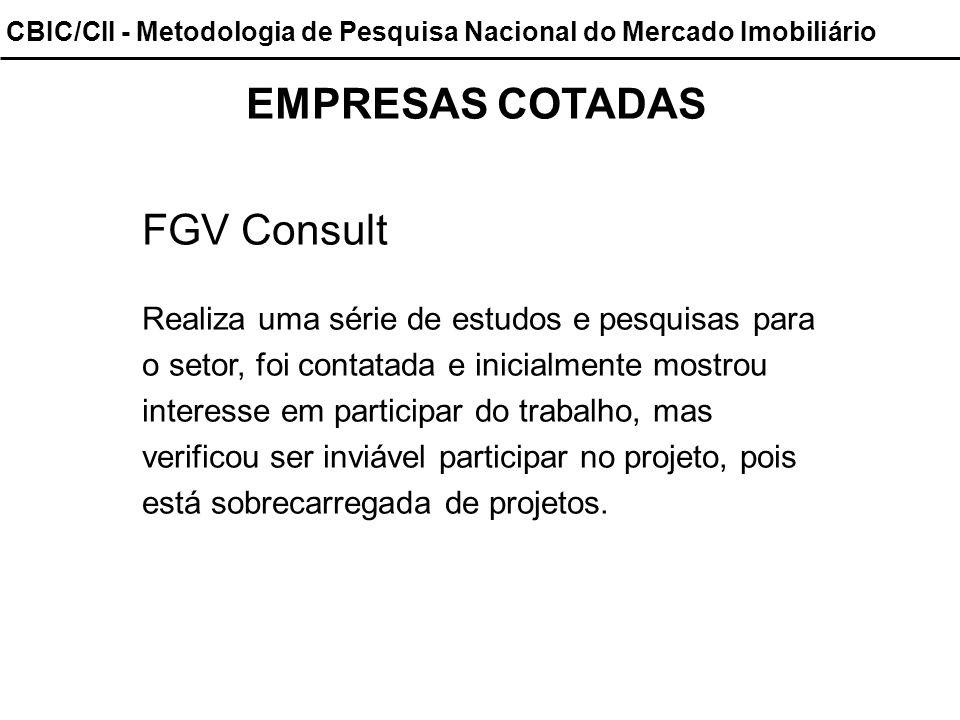 CBIC/CII - Metodologia de Pesquisa Nacional do Mercado Imobiliário