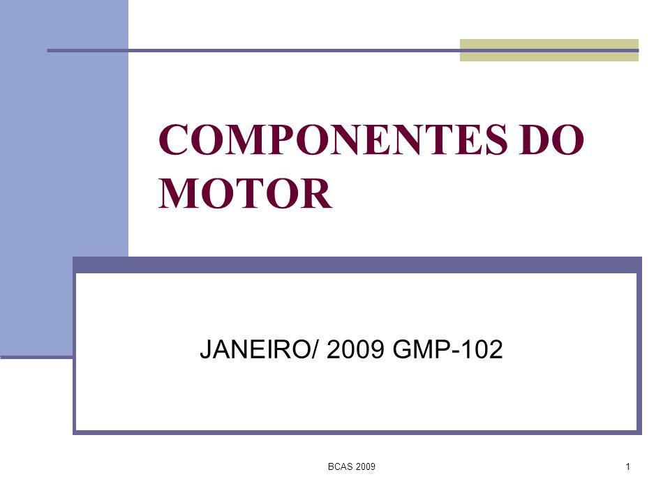 COMPONENTES DO MOTOR JANEIRO/ 2009 GMP-102 BCAS 2009
