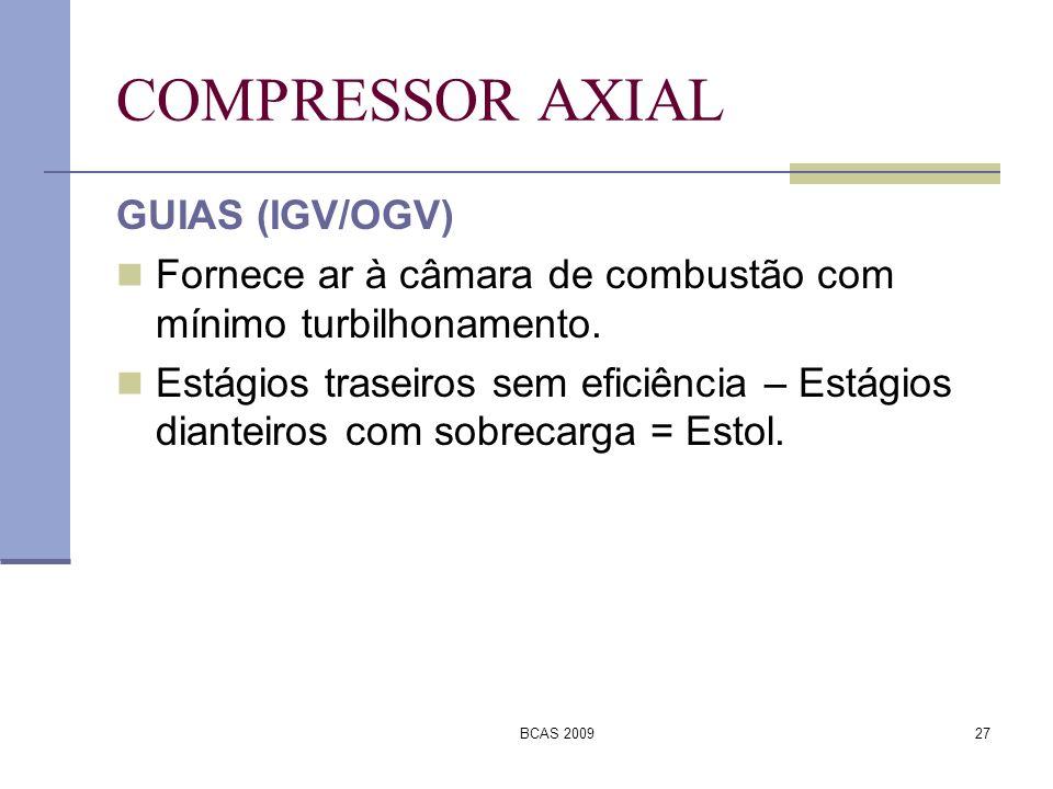 COMPRESSOR AXIAL GUIAS (IGV/OGV)
