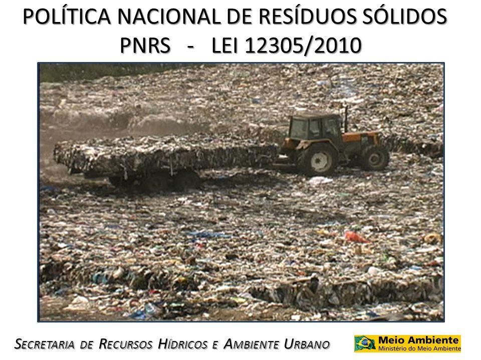 POLÍTICA NACIONAL DE RESÍDUOS SÓLIDOS PNRS - LEI 12305/2010