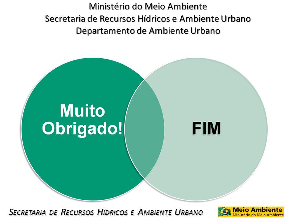 Ministério do Meio Ambiente Secretaria de Recursos Hídricos e Ambiente Urbano Departamento de Ambiente Urbano