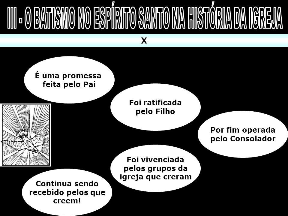 III - O BATISMO NO ESPÍRITO SANTO NA HISTÓRIA DA IGREJA