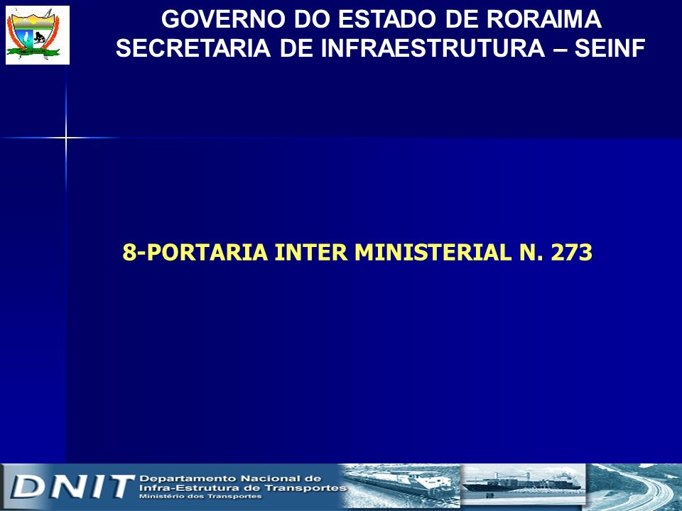 8-PORTARIA INTER MINISTERIAL N. 273