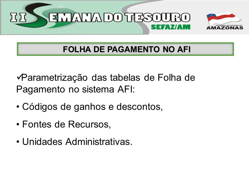 FOLHA DE PAGAMENTO NO AFI