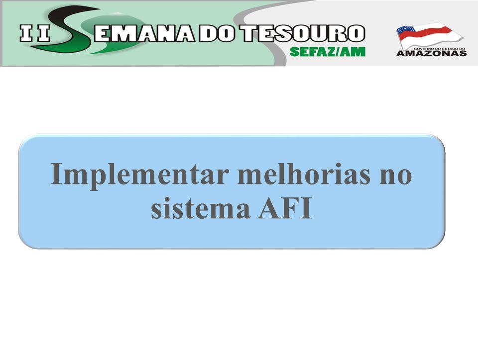Implementar melhorias no sistema AFI
