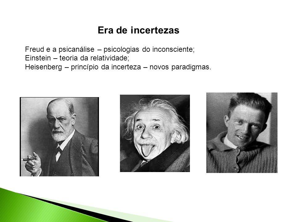 Era de incertezas Freud e a psicanálise – psicologias do inconsciente;