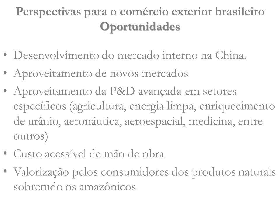 Perspectivas para o comércio exterior brasileiro Oportunidades