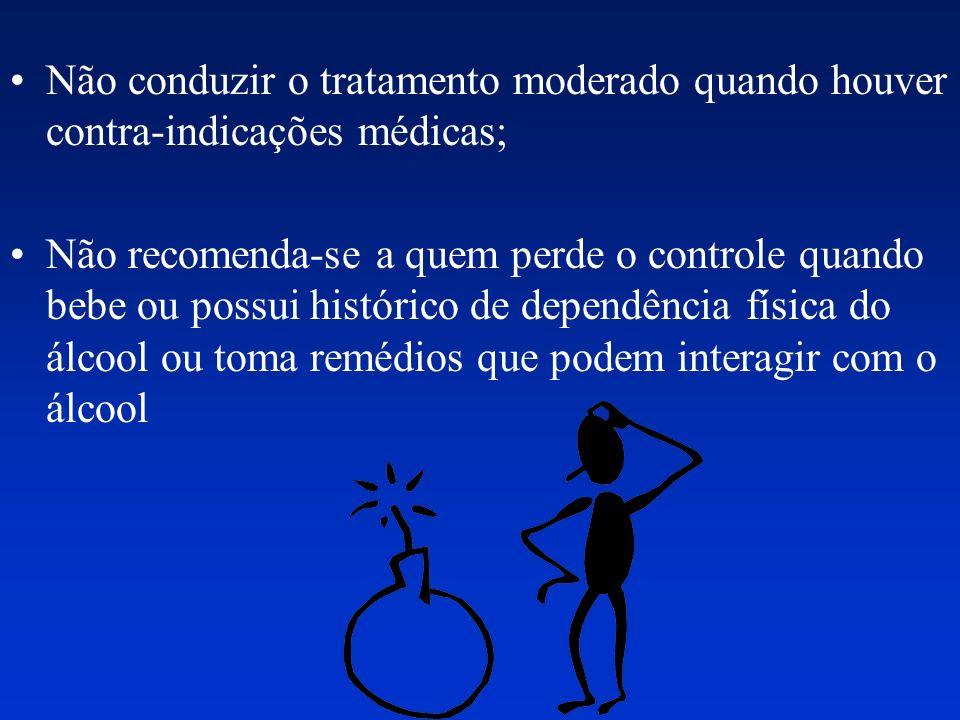 Não conduzir o tratamento moderado quando houver contra-indicações médicas;