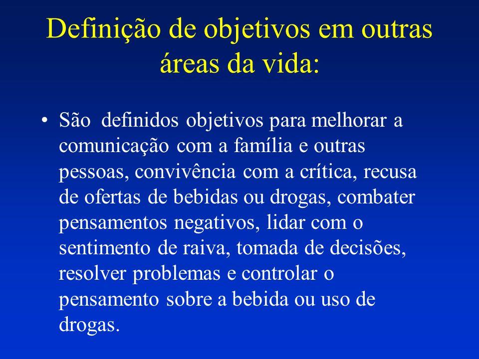 Definição de objetivos em outras áreas da vida: