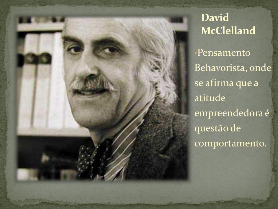 David McClelland Pensamento Behavorista, onde se afirma que a atitude empreendedora é questão de comportamento.