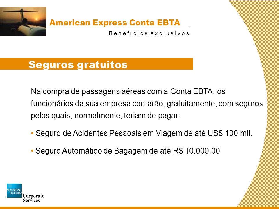 Seguros gratuitos American Express Conta EBTA