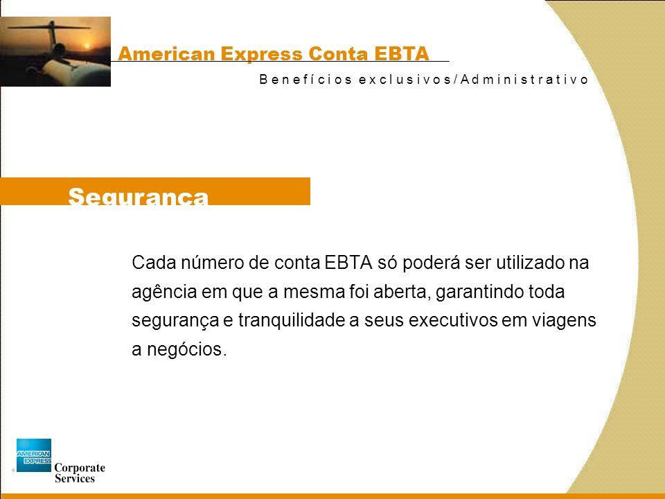 Segurança American Express Conta EBTA