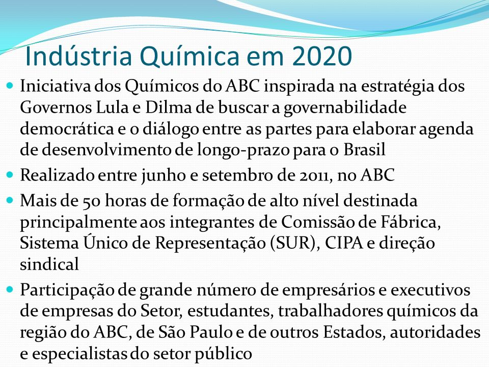 Indústria Química em 2020