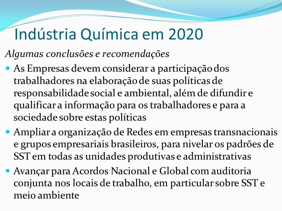 Indústria Química em 2020 Algumas conclusões e recomendações