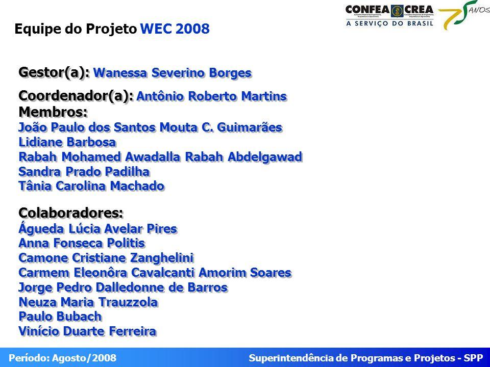 Equipe do Projeto WEC 2008